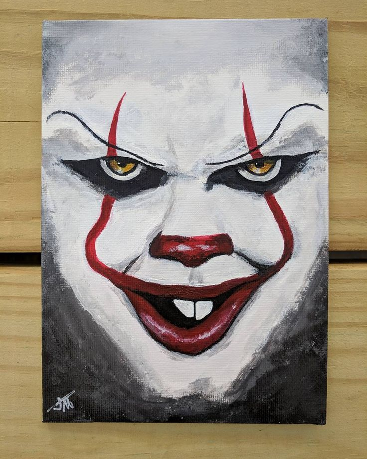You 39 ll float too 2017 pennywise the clown from for Clown pumpkin painting