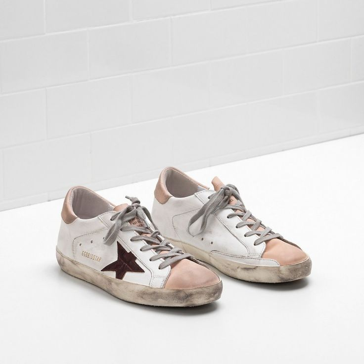 Golden Goose Super Star Brown Star in leather White Men - Golden Goose / GGDB #sneakers #women #fashion #shoes #goldengoose #lifestyle #gifts