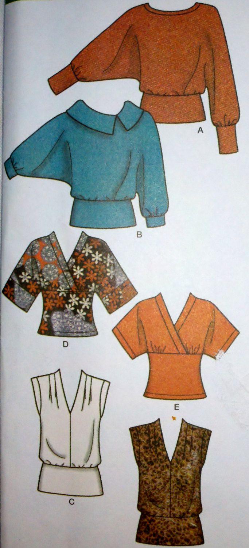Sewing Pattern simplicité 4020 Pullover par Sutlerssundries sur Etsy