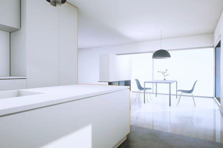 Unterschiedliche Perspektiven in der VR-Küche: Der Kunde kann sich die Wohnung aus allen Winkeln ansehen, indem er sich in der virtuellen Realität durch die Räume bewegt.