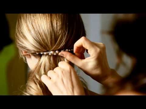 The Colette Malouf Low Sweep Hairstyle thecmway - YouTube