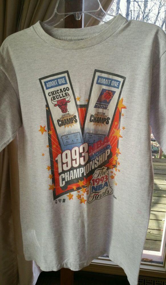 d41bfb43249b 1993 Chicago Bulls NBA Finals World Championship T-Shirt Large Jordan by  Salem  Salem  ChicagoBulls