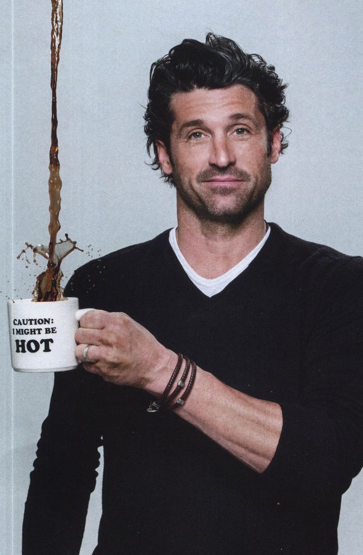 Patrick Dempsey and coffee?..Well my morning is complete! :D
