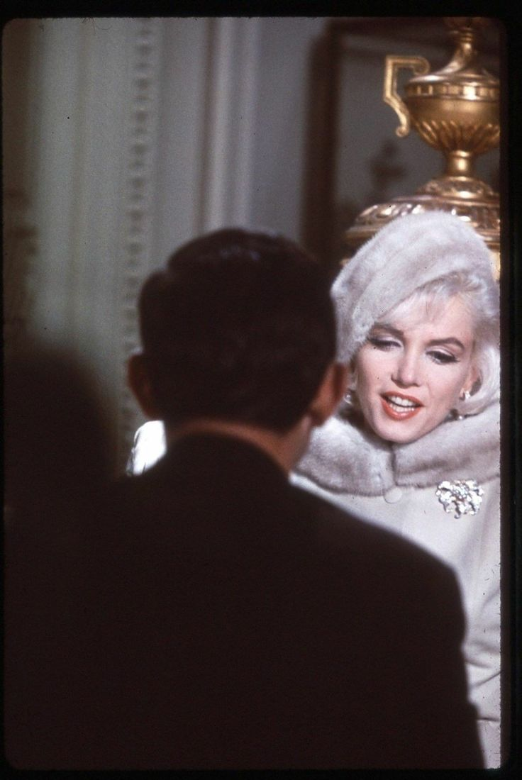 """Marilyn and (the back of) Wally Cox for """"Something's Got To Give"""""""