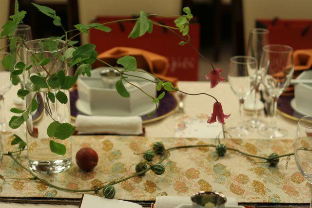 和婚の装花 卓上 目黒雅叙園様へ : 一会 ウエディングの花