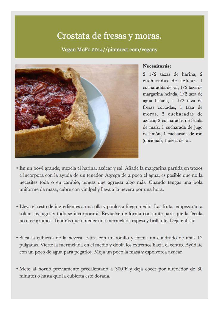 Día 2 del VeganMofo: Crostata de fresas y moras.