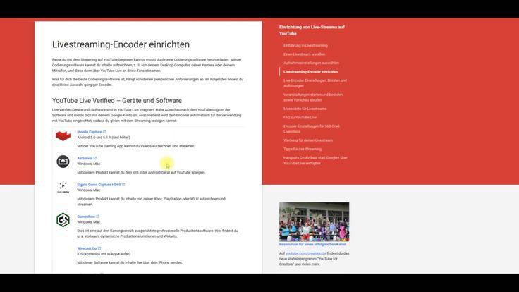Video mit Informationen über Livestream bei YouTube #informationen #livestream…