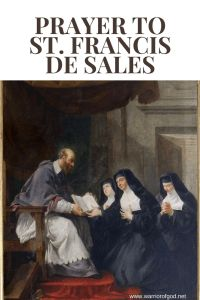 Prayer to St. Francis de Sales