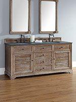 "72"" Veroli Double Sink Vanity - Driftwood"