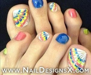 mix toe nail art