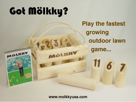 Mölkky is a Finnish throwing game invented in 1996. It is reminiscent of kyykkä,