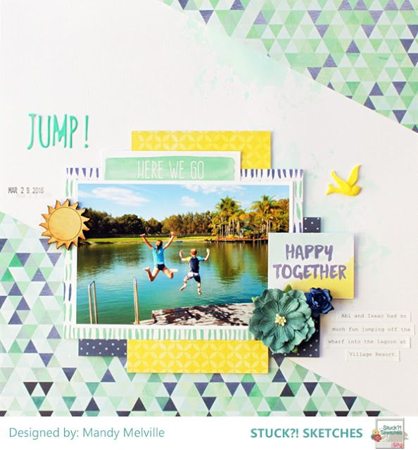 My happy place...: Jump! | Stuck?! Sketches Design Team Layout
