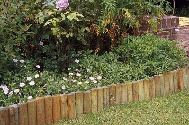 Wooden Log Roll Edging (H30cm x L1.8m) £12.99