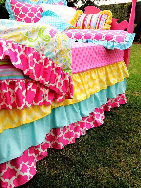 Striped Kumari Garden Girl's Bedding by LikeMyMotherDoes on Etsy