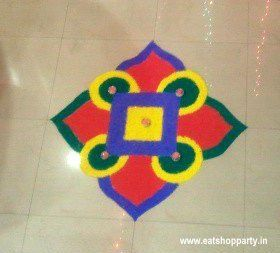 Easy Rangoli Design - made by me back in 2010