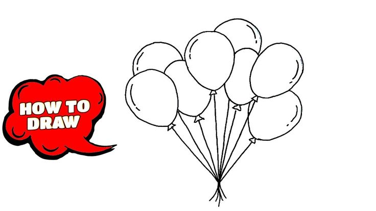 How to draw a Balloon | Easy way to draw Balloon in 2020 ...