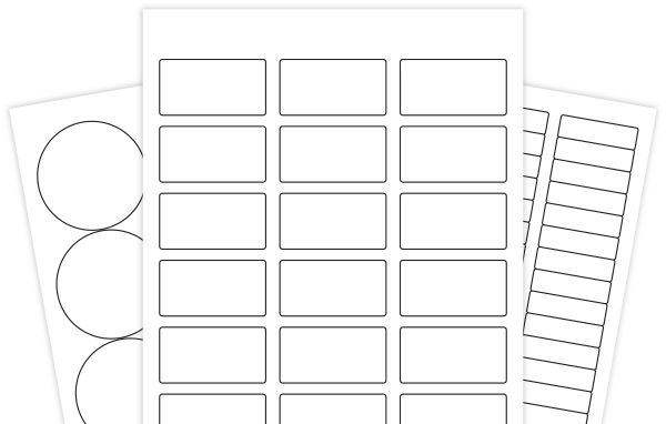 Hundreds of Blank Label Templates in PDF format, so they can be used in Sil Studio