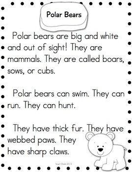 Arctic Animals Research Reading FREE