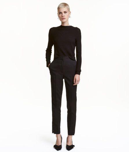 Anzughose mit Druckknöpfen | Schwarz | Damen | H&M DE