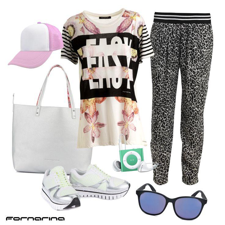 Fornarina styling tips #fornarina #myFornarina #stylingtips #lookidea #fashion #casual #spring #pinktouch