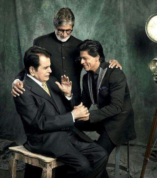 old photoshoot from Filmfare? with Dilip Kumar and Big B
