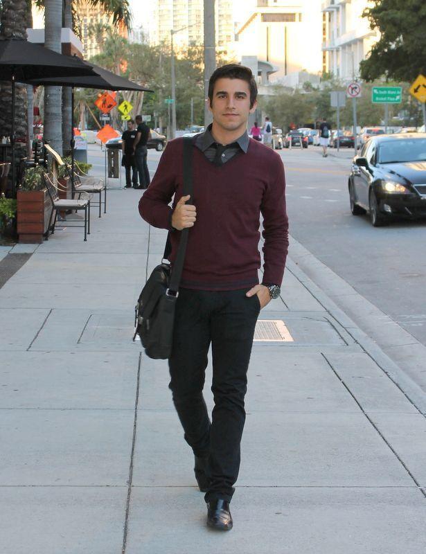 Black Sweater Grey Pants Shoes
