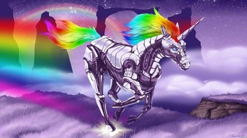 Rainbow unicorn attack 2