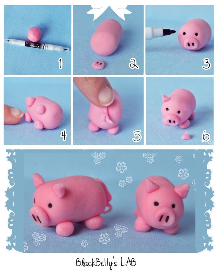 step by step pig... Alapanyagokat sé ételfestéket vásárolj a GlazurShopból! http://shop.glazur.hu
