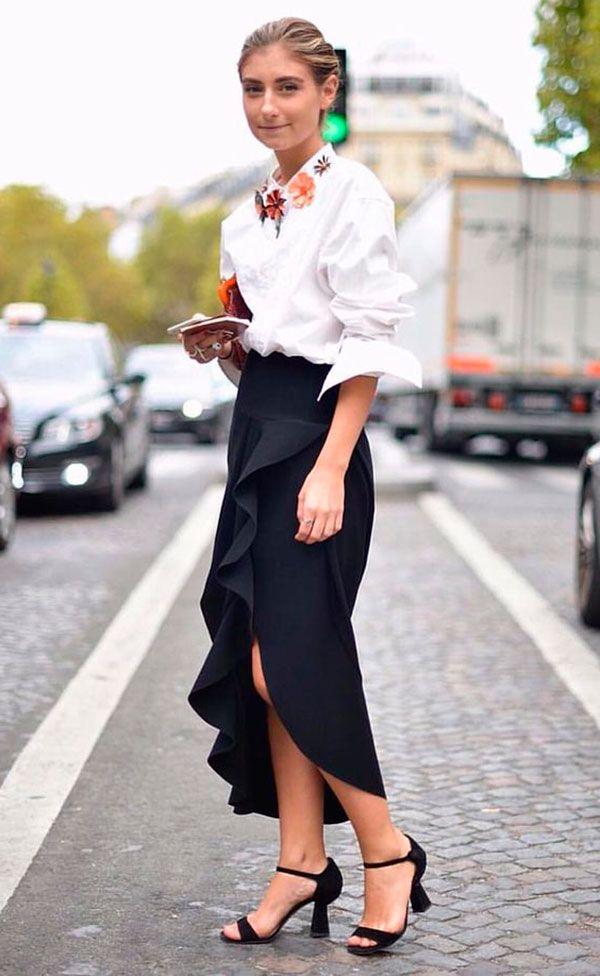 Estilo no escritório: Saia Midi + Camisa