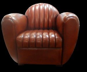 Club Dallas honey color leather chair hand waxed.