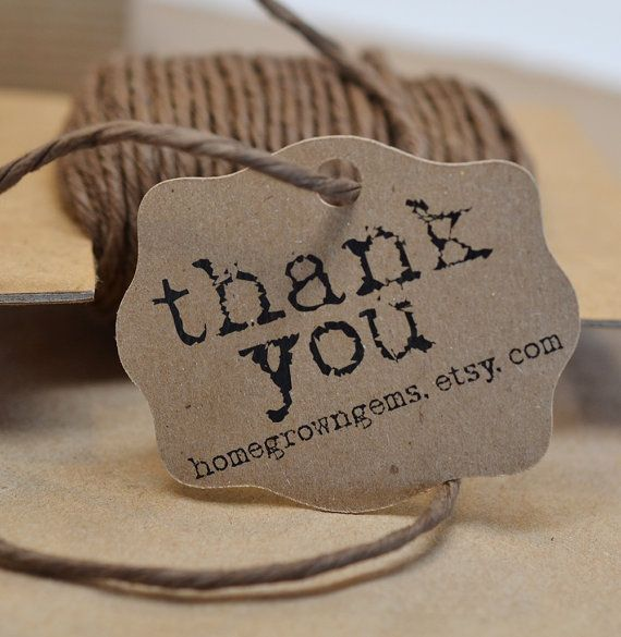 Rustic Typewriter Font Gift Tags Thank You Tags Hang Tag Price Tag