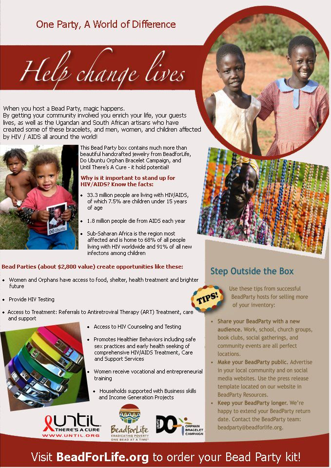 looking for an easy way to make a positive difference in the world one that you know will directly touch lives volunteer to host a free bead party at home