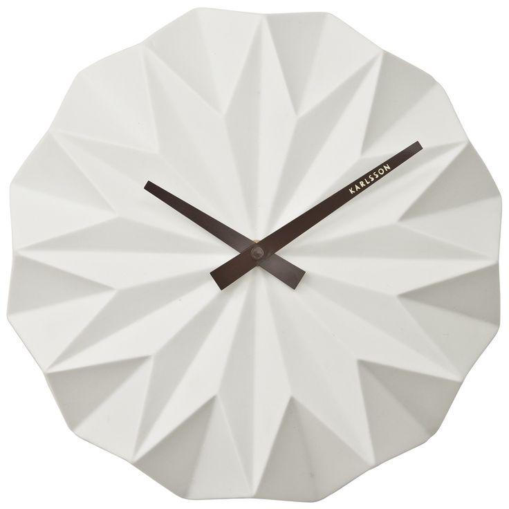 Zegar wiszący Origami white Karlsson