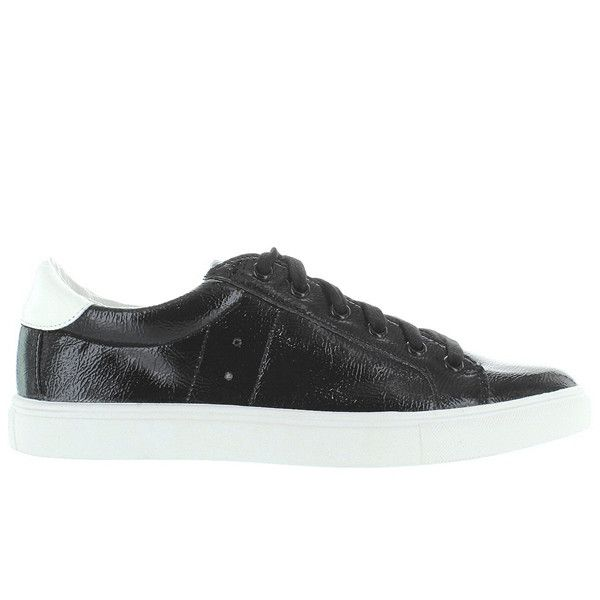 Steeve Madden Lovve - Black Patent Lace-Up Sneaker