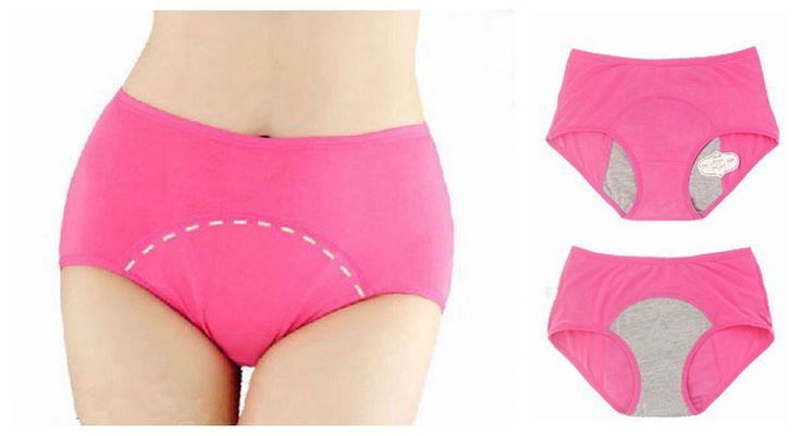 Asian Size L-XXXL Women's Underwear Period Menstual Leakproof Panties Pee-proof Urine Lock Panties Full Briefs Colorful