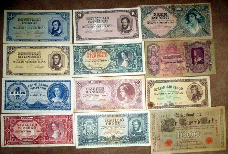 Hungary&Germany Pengo,Mark Lots 12Pcs Different Paper Money From Year 1910-1946.