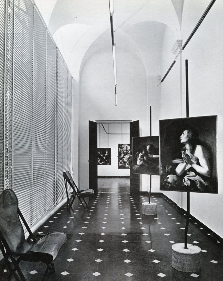 Franco Albini, interior of INA office building, Parma, Italy, built in 1950-4