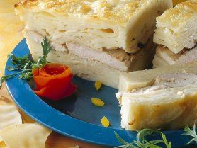 Csirkés lasagne recept