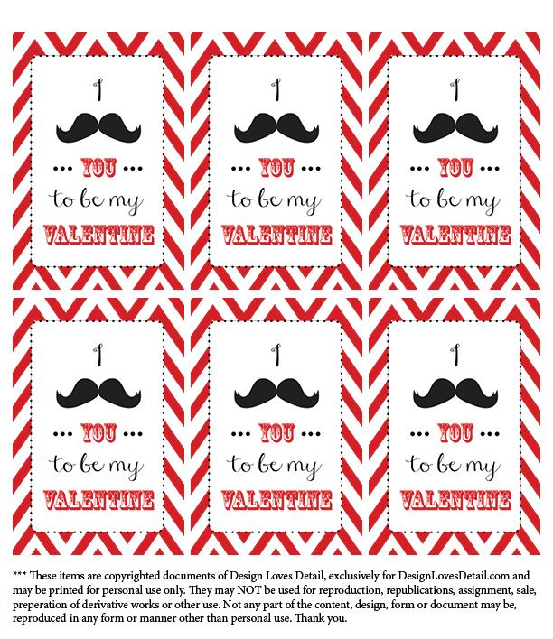 I mustache you to be my valentine-Free Valentines printables by Design Loves Detail