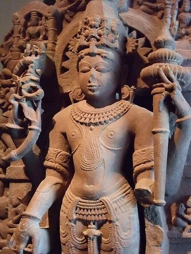 Hindu Deity Vishnu from north central India 950-1150 CE Sandstone (1)