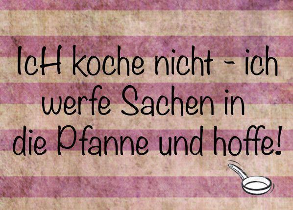 Kochen - lustige Postkarte Spaß Karte Spass Freude von Poster-kreativ.de auf…