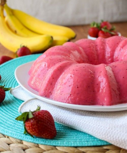 Creamy Strawberry Banana Jello & Blendtec Giveaway! - The Food Charlatan