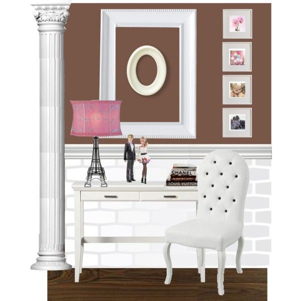 This is my take on a previous pin of a teen girls study area @Marta McCall
