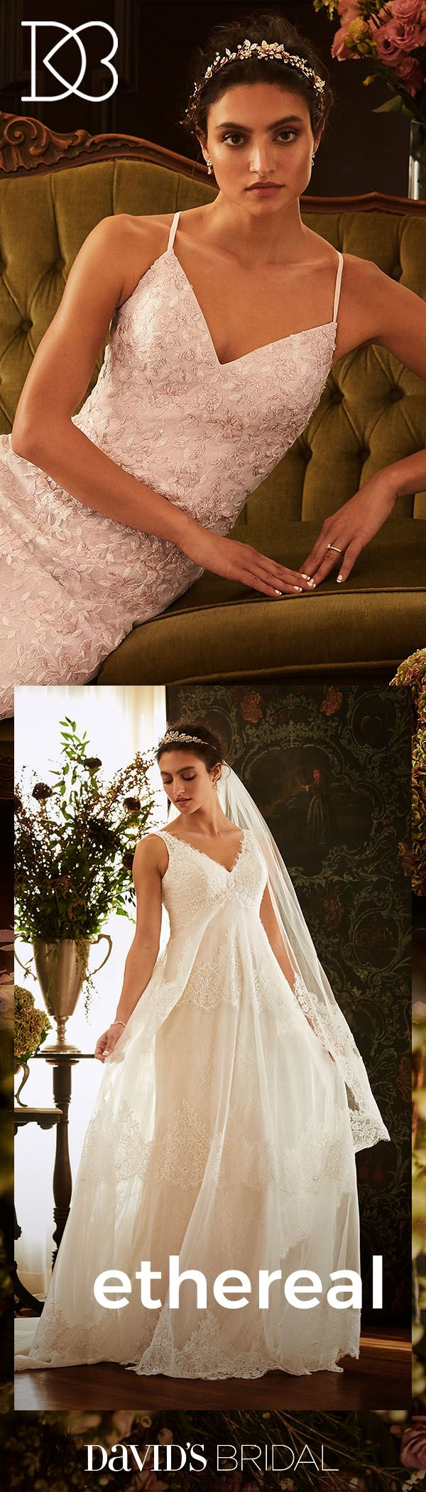 Melissa Sweet wedding dresses are vintage-inspired, poetic, and full of romance. Find something for every style at David's Bridal.