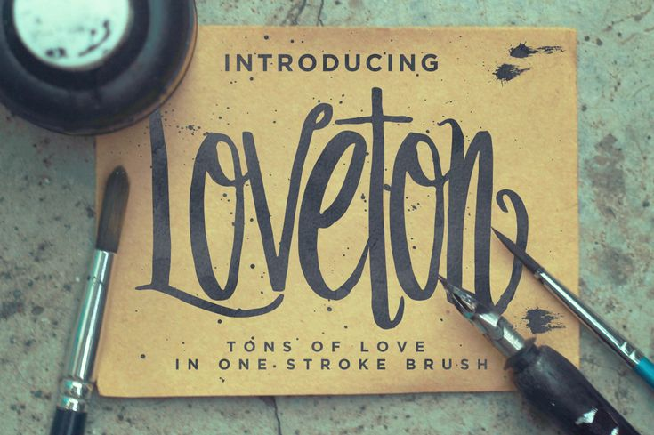 Loveton Typeface by irwanwismoyo on Creative Market