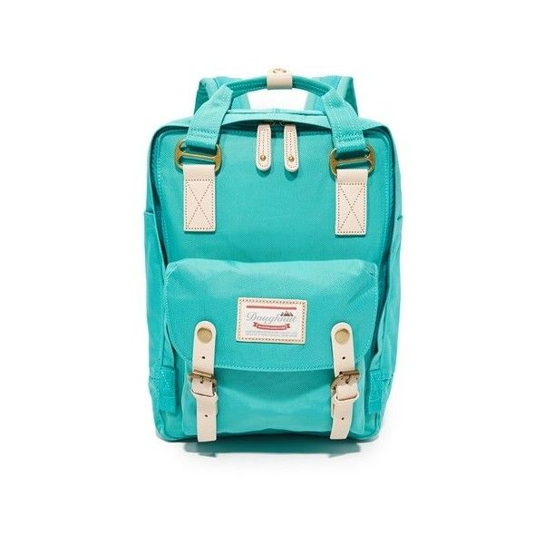 Doughnut Macaroon Backpack ($81) ❤ liked on Polyvore featuring bags, backpacks, mint, backpack laptop bags, slim backpack, mint backpacks, laptop pocket backpack and laptop rucksack
