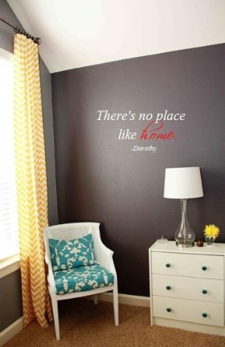 There's no place like home Wizard of Oz quote 26x12 wall saying quote vinyl decals by Wheeler3Designs, http://www.amazon.com/dp/B004USL32C/ref=cm_sw_r_pi_dp_x-GKpb1JT7154