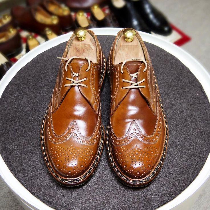 Heinrich Dinkelacker クリームだけ入れ直し #heinrichdinkelacker #shoes #cordovan #whiskycordovan #ハインリッヒディンケラッカー #ハインリッヒディンケルアッカー #紳士靴 #革靴 #コードバン #ウィスキーコードバン #mensshoes