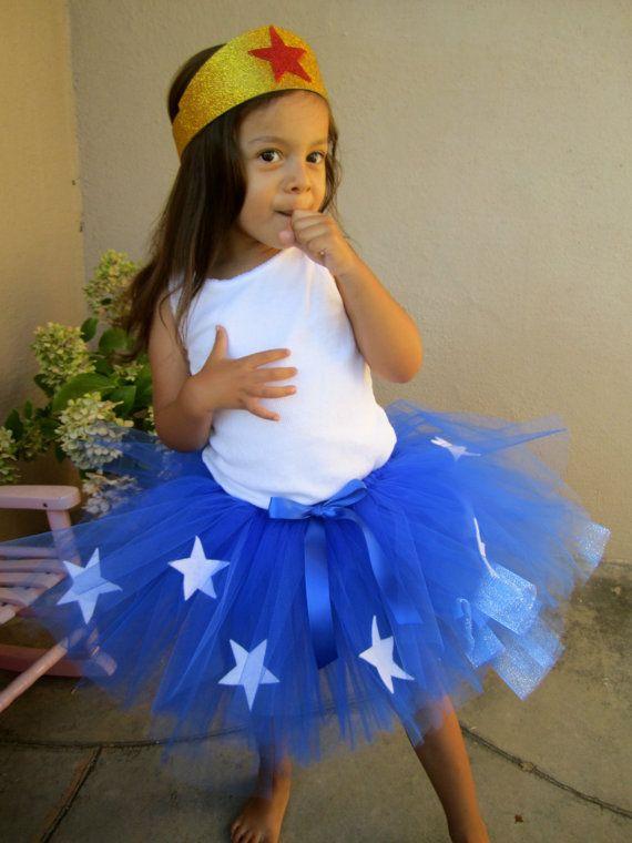 Mädchens Superheld Tutu Kostüm. Blau Tutu mit von jessicakertel1