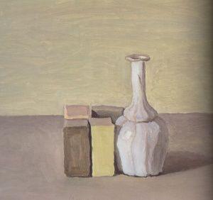 Still life with green box | Giorgio Morandi | 1954